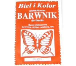 Barwnik do tkanin - kolor: rudy