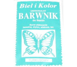 Barwnik do tkanin - kolor: turkusowy