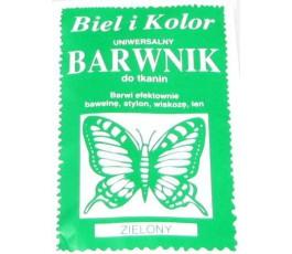 Barwnik do tkanin - kolor: zielony