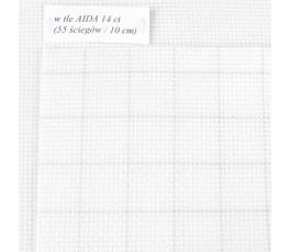 AIDA EASY COUNY 14ct (35x42cm) kolor: 1219 - biały