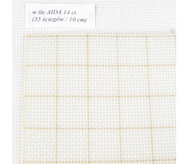 AIDA EASY COUNY 14ct (35x42cm) kolor: 2199 - ecru