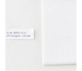 LUGANA 25 ct ( 50 x 70 cm) kolor: 100 - biały