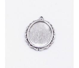 Oprawka 25 mm, kolor srebrny