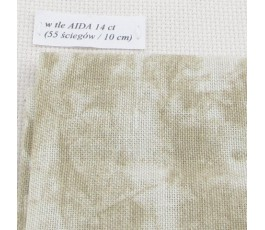 BELFAST VINTAGE (marmurkowy) 32 ct (50 x 70 cm) kolor: 7149 - khaki