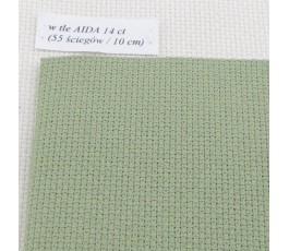 AIDA 14 ct (35 x 42 cm) kolor: 6016 - oliwkowy