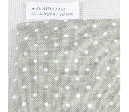 PETIT POINT BELFAST 32 ct (50 x 70 cm) kolor: 5379 - naturalny białe kropki