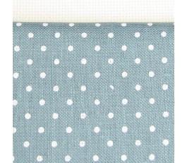 PETIT POINT BELFAST 32 ct (50 x 70 cm) kolor: 5269 - szaroniebieski w białe kropki