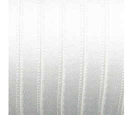 Wstążka satynowa dwustronna 6 mm, kolor: biały - 01