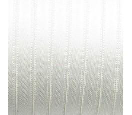 Wstążka satynowa dwustronna 6 mm, kolor: biały surowy - 02