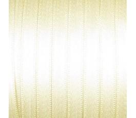 Wstążka satynowa dwustronna 6 mm, kolor: jasnobeżowy - 03