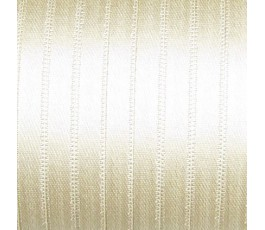 Wstążka satynowa dwustronna 6 mm, kolor: beżowy - 04
