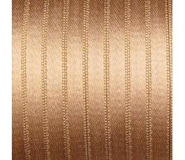 Wstążka satynowa dwustronna 6 mm, kolor: ciemnobeżowy - 05