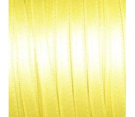 Wstążka satynowa dwustronna 6 mm, kolor: jasnżółty - 06