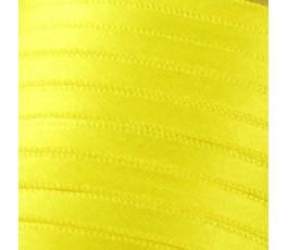 Wstążka satynowa dwustronna 6 mm, kolor: żółty - 07