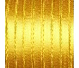 Wstążka satynowa dwustronna 6 mm, kolor: złoty - 08