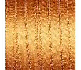 Wstążka satynowa dwustronna 6 mm, kolor: jasnobrązowy - 09