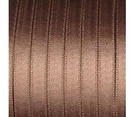 Wstążka satynowa dwustronna 6 mm, kolor: brązowy - 10