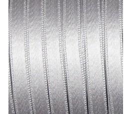 Wstążka satynowa dwustronna 6 mm, kolor: szary - 12