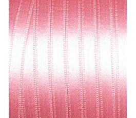 Wstążka satynowa dwustronna 6 mm, kolor: różowy - 14