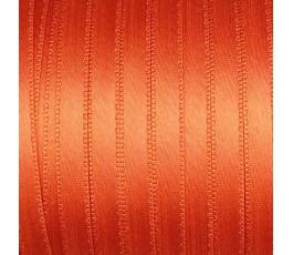 Wstążka satynowa dwustronna 6 mm, kolor: pomarańczowy - 15
