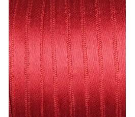 Wstążka satynowa dwustronna 6 mm, kolor: czerwony - 17