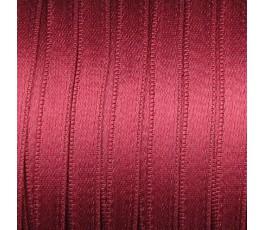 Wstążka satynowa dwustronna 6 mm, kolor: bordowy - 18