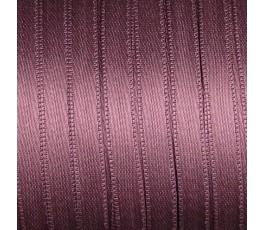 Wstążka satynowa dwustronna 6 mm, kolor: ciemnobordowy - 19