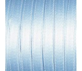 Wstążka satynowa dwustronna 6 mm, kolor: jasnoniebieski - 20