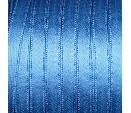 Wstążka satynowa dwustronna 6 mm, kolor: ciemnoniebieski - 22