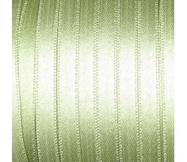 Wstążka satynowa dwustronna 6 mm, kolor: jasnozielony - 27
