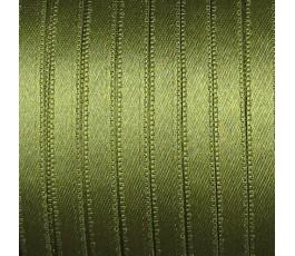 Wstążka satynowa dwustronna 6 mm, kolor: khaki - 29