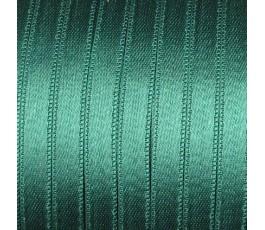Wstążka satynowa dwustronna 6 mm, kolor: ciemnozielony - 30
