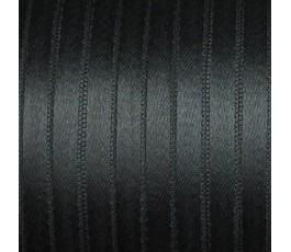 Wstążka satynowa dwustronna 6 mm, kolor: czarny - 31