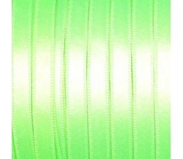 Wstążka satynowa dwustronna 6 mm kolor: zielony fluo - 33