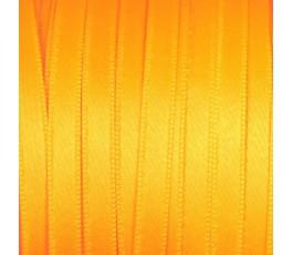 Wstążka satynowa dwustronna 6 mm, kolor: pomarańczowy fluo - 34