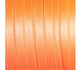 Wstążka satynowa dwustronna 6 mm, kolor: różowy fluo - 35