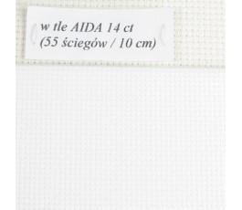 AIDA 18 ct z beli, kolor blanc - biały