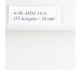 AIDA 18 ct z beli, kolor ecru