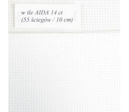 AIDA 14 ct z beli, kolor blanc - biały