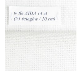 AIDA 14 ct (10 x 14 cm) colour: 11 - opalescent white