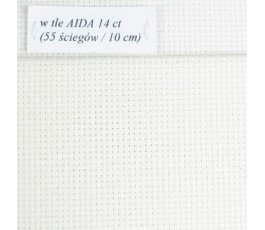 AIDA 14 ct (36 x 49 cm) kolor: blanc - biały