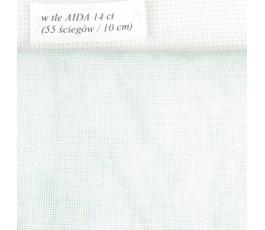 BELFAST VINTAGE (marmurkowy) 32 ct (50 x 70 cm) kolor: 6159 - zielony