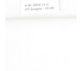 BELFAST 32 ct (50 x 70 cm) kolor: 100 - biały