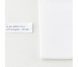 HARDANGER 22 ct ( 35 x 35 cm) kolor: 1 - biały