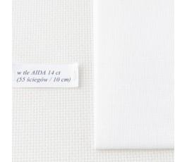 LINDA 27 ct ( 35 x 42 cm) kolor: 1 - biały
