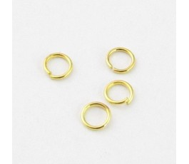 Metalowe kółko 5 mm kolor złoty