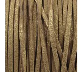 Sztuczny rzemyk, pozłacany 3 mm