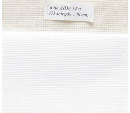 AIDA 16 ct z beli, kolor blanc - biały (DMC)