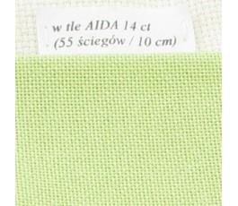 LUGANA 25 ct (35 x 35 cm) kolor 6140 - pistacjowy