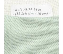 LUGANA 25 ct (35 x 35 cm) kolor 618 - szarozielony